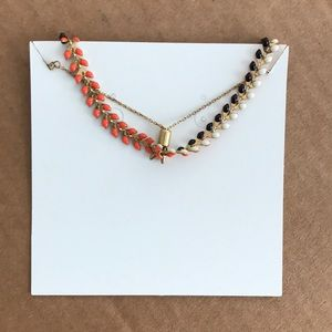 Jewelry - Reversible bracelet- orange / black & white